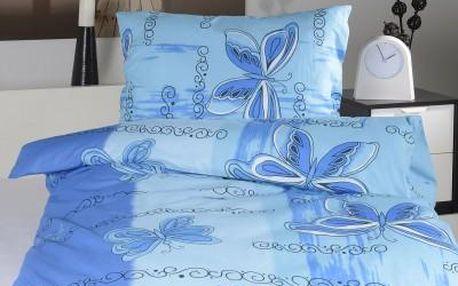 Dreaming Peacock povlečení na dvě lůžka IVETA - modrá 140x220, 70x90