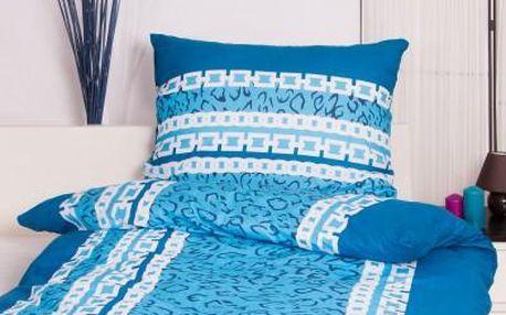 Dreaming Peacock povlečení na dvě lůžka SIMONA - modrá 140x220, 70x90
