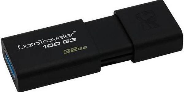 Kingston DataTraveler 100 G3 32GB (DT100G3/32GB) černý + Doprava zdarma