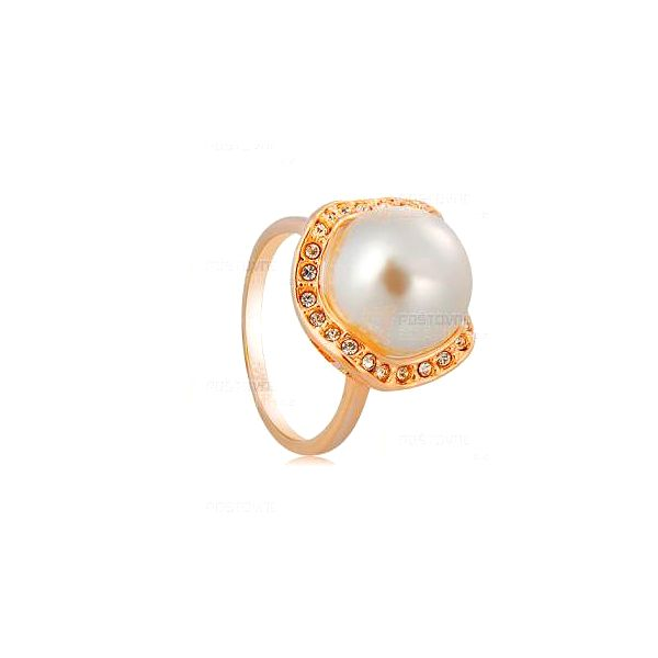 Prstýnek s falešnou perlou a poštovné ZDARMA! - 9999920908