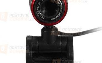 USB webkamera - černočervená barva a poštovné ZDARMA! - 9999920918