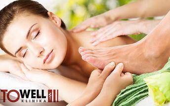 Relaxační klasická masáž zad a šíje nebo chodidel