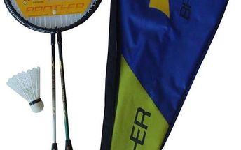 Sada badmintonové pálky a košíček Brother G320
