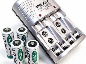 Set Pilot – nabíječka baterií a 4 kusy AA baterie 3000mAh