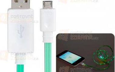 Svítící nabíjecí a datový micro USB kabel a poštovné ZDARMA! - 9999920968