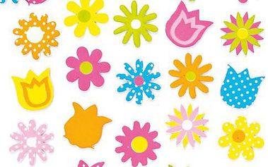 Pěnové samolepky - jarní květiny