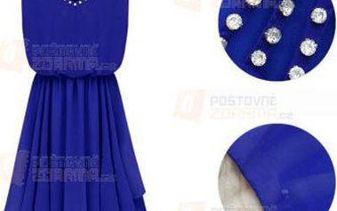 Šifonové šaty s kamínky a poštovné ZDARMA! - 9999918959