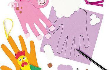 Sada k výrobě dekorace otisk ruky - zvířátka z farmy (4ks)
