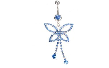 Modrý motýlek - piercing do pupíku a poštovné ZDARMA! - 9999920938