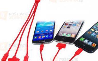 Textilní nabíjecí kabel 3v1 - 6 barev a poštovné ZDARMA! - 9999920958
