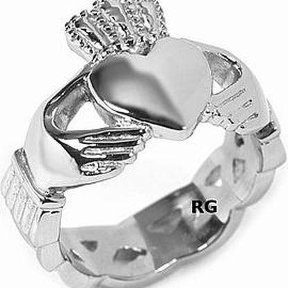 silvego Ocelový prsten Claddagh - AKCE