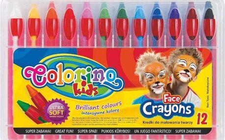 Barvy obličejové v tužce 12 barev Colorino Kids