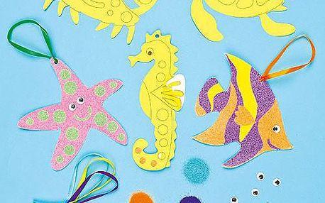 Dekorace z písku - podmořský život (5ks)