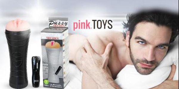 Vibrující umělá vagína PUSSY z lékařského silikonu! Nízká cena, vysoký stupeň uspokojení pro Vás!