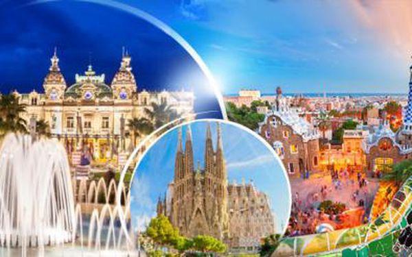 6denní poznávací zájezd do Monaka, Barcelony, Port Grimaud a Saint Tropez! Ubytování, snídaně, průvodce!