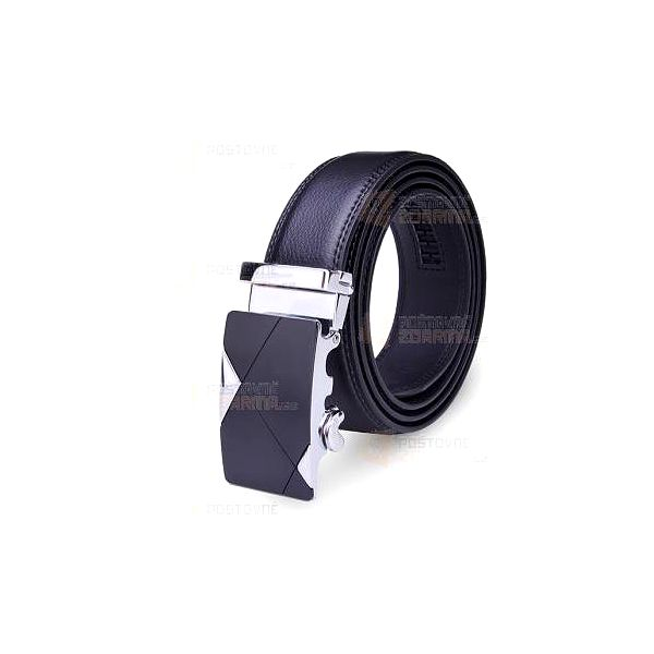 Pánský koženkový opasek v černé barvě - 120 cm a poštovné ZDARMA! - 9999920963