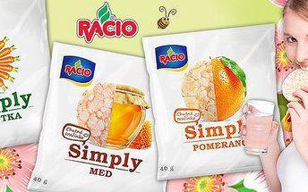 12 balíčků zdravých svačinek Racio Simply