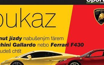 30 minut jízdy snů ve voze Nissan GT-R, Ferrari F430 nebo Lamborghini Gallardo v Ostravě a Olomouci!
