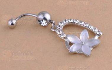 Piercing s podkovou a květinou a poštovné ZDARMA! - 9999921012