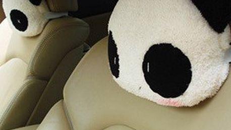 Panda polštářek na opěrky v autě