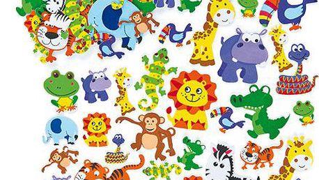 Pěnové samolepky zvířata z džungle