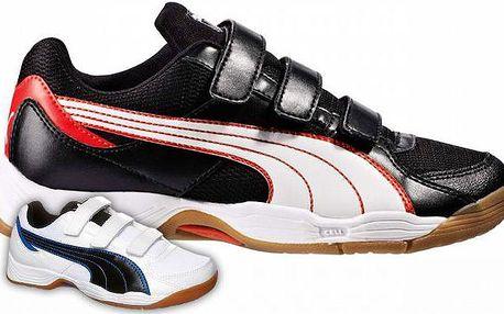 Kvalitní značková dětská obuv Puma Vellum III V Jr. v černé nebo bílé barvě