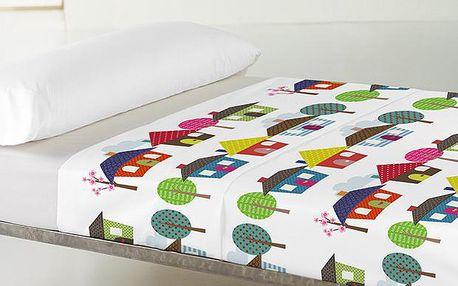 Prostěradlo a povlak na polštář Happy Homes 100x140 cm