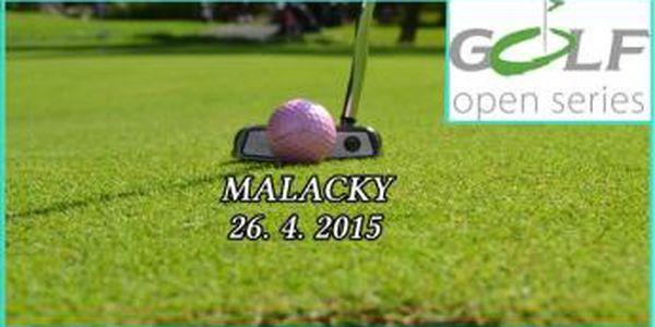 Zabojujte o turnajové vavříny na Open Golf Tour - Malacky, neděle 26.4. 2015 - turnajové fee 18 jamek na oblíbeném slovenském hřišti Black & White Golf Resort Bratislava. Získejte hrací místo v golfové túře a ušetříte 1090 Kč proti běžnému fee