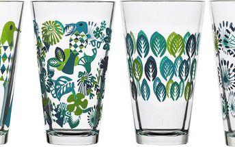 Sada 4 sklenic Fantasy 300 ml, zelená