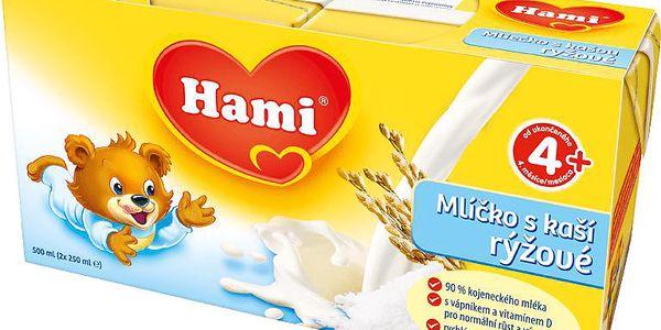 Hami rýžové mlíčko s kaší (2x250 ml)