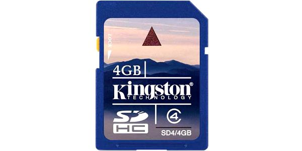 Kingston SDHC 4GB Class 4 - SD4/4GB