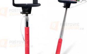 Selfie tyč v červené barvě - 100 cm a poštovné ZDARMA! - 9999921081