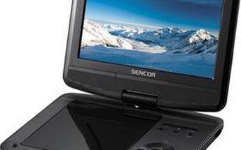 Přenosný přehrávač Sencor SPV 7914T 23cm DVD+DVB-T