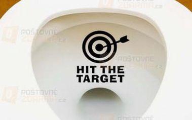 Samolepka na toaletu Hit the target a poštovné ZDARMA! - 9999921054