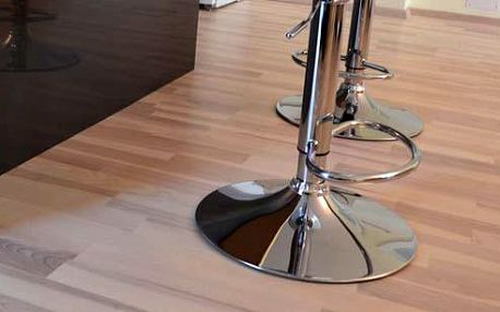 Dřevená podlaha jasan design bílý lak