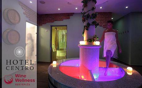 Ráj vína a relaxu! Wine Wellness Hotel Centro**** pro dva