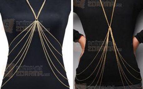 Šperk na tělo ve zlaté barvě - vícevrstvý a poštovné ZDARMA! - 9999921084