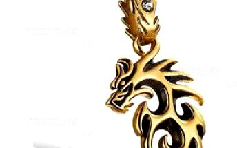 Originální řetízek s příveskem ve tvaru draka pro muže a poštovné ZDARMA! - 9999921180