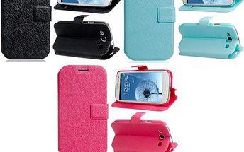 Ochranné kožené pouzdro pro Samsung Galaxy S3 - tři barvy a poštovné ZDARMA! - 9999907640
