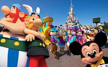 Zájezd do Francie s návštěvou Disneylandu nebo Asterix parku