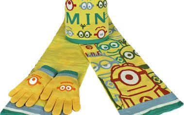 Dětský zimní set Mimoni - rukavice, šála, čepice