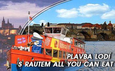 """Romantické PLAVBY LODÍ po Vltavě! Vyhlídková plavba nebo plavba s """"all you can eat"""" neomezeným rautem! Dopolední, odpolední i večerní jízdy se konají každý den včetně víkendů, poznejte nezapomenutelnou krásu denní i večerní Prahy z paluby!"""