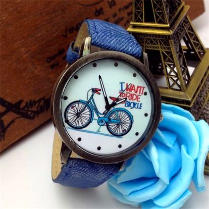 Vintage hodinky s obrázkem kola