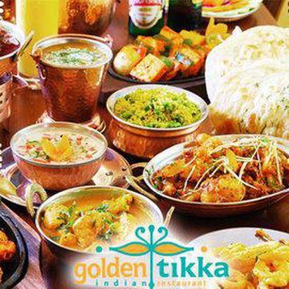 5chodové indické degu menu pro dva vč. nápojů