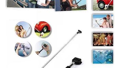 Univerzální selfie tyčka ve 3 barvách - 95 cm - černá
