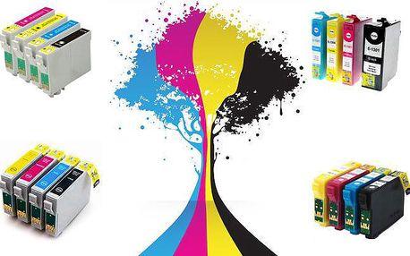 Čtyři sady kompatibilních náplní do tiskáren značky Epson s kontrolním čipem