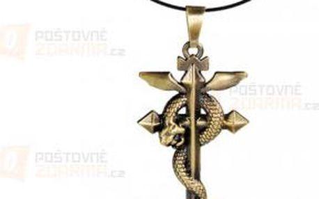 Náhrdelník s přívěskem kříže s hadem a poštovné ZDARMA! - 9999921160