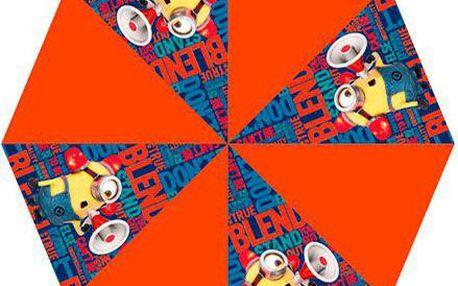 Dětský deštník oranžový s Mimoněm (48cm)