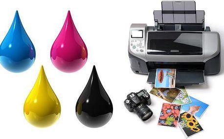 Sada 5 kusů kompatibilních náplní různých barev do tiskáren Canon