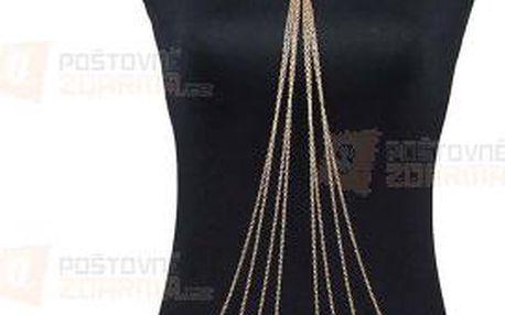 Bikini tělový šperk - vícevrstvý, zlatý a poštovné ZDARMA! - 9999921143